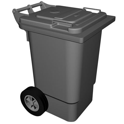 poubelle en poly thyl ne avec couvercle 120 litres. Black Bedroom Furniture Sets. Home Design Ideas