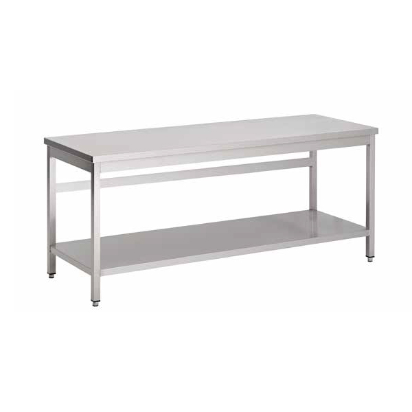 Table inox centrale 1000 600 mm tbgg0009 materiel de for Table restauration professionnel