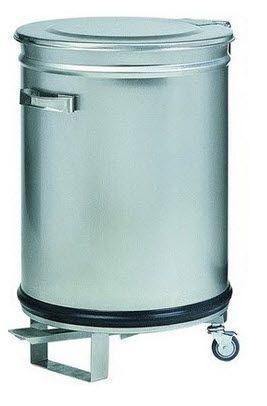 poubelle inox 100 litres av4668 restoconcept vous. Black Bedroom Furniture Sets. Home Design Ideas