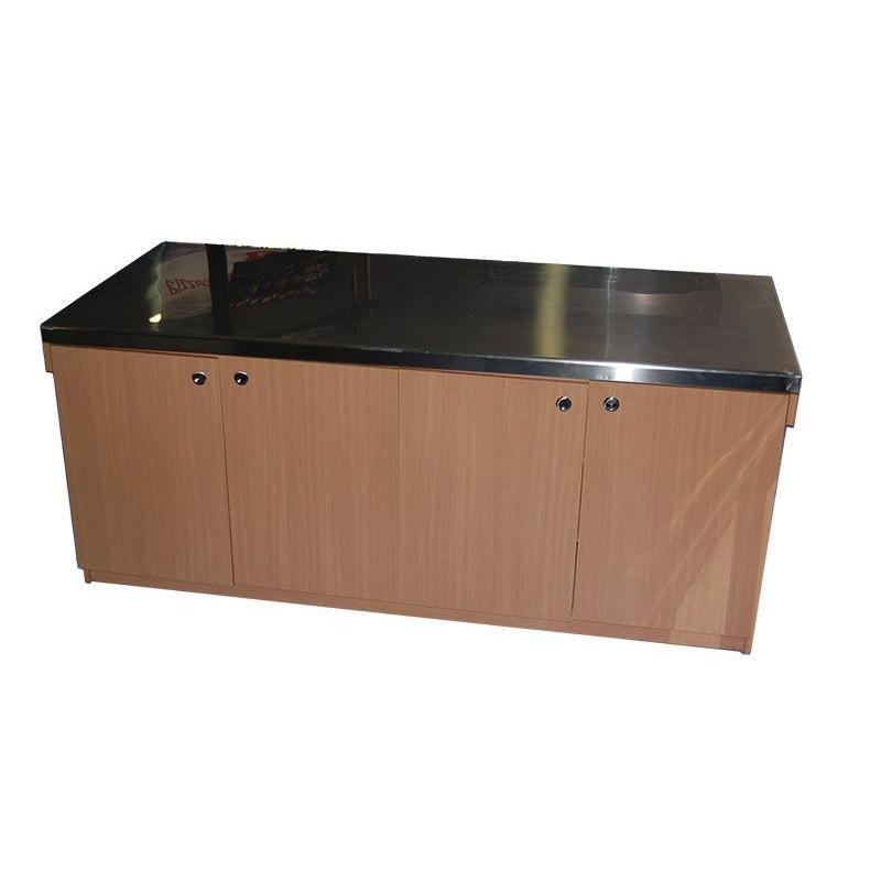 Comptoir en bois avec dessus inox comptoir neutre cuisine - Dessus de comptoir en bois ...