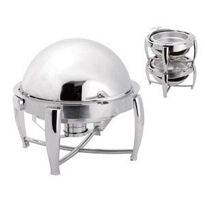 Chafing Dish rond empilable finition miroir poli