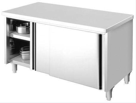 Meuble de rangement central (MF18IC)- Ce meuble de rangement inox est un matériel de cuisine ...