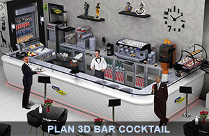 plan3d bar cocktail
