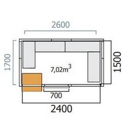 chambre froide positive 1700x2600 mercatus. Black Bedroom Furniture Sets. Home Design Ideas