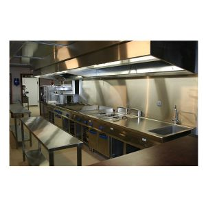 Hotte professionnelle inox hotte professionnelle restaurant for Tole inox pour credence