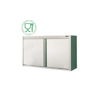 Placard Inox Mural portes battantes 800mm DIAMOND