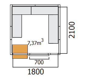 chambre froide positive 2000x2300 mercatus. Black Bedroom Furniture Sets. Home Design Ideas